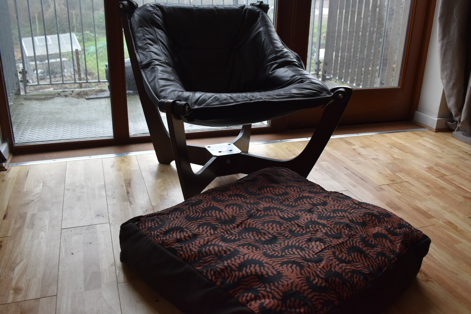 Large 'Adire' Cushion Cover – Walnut Brown