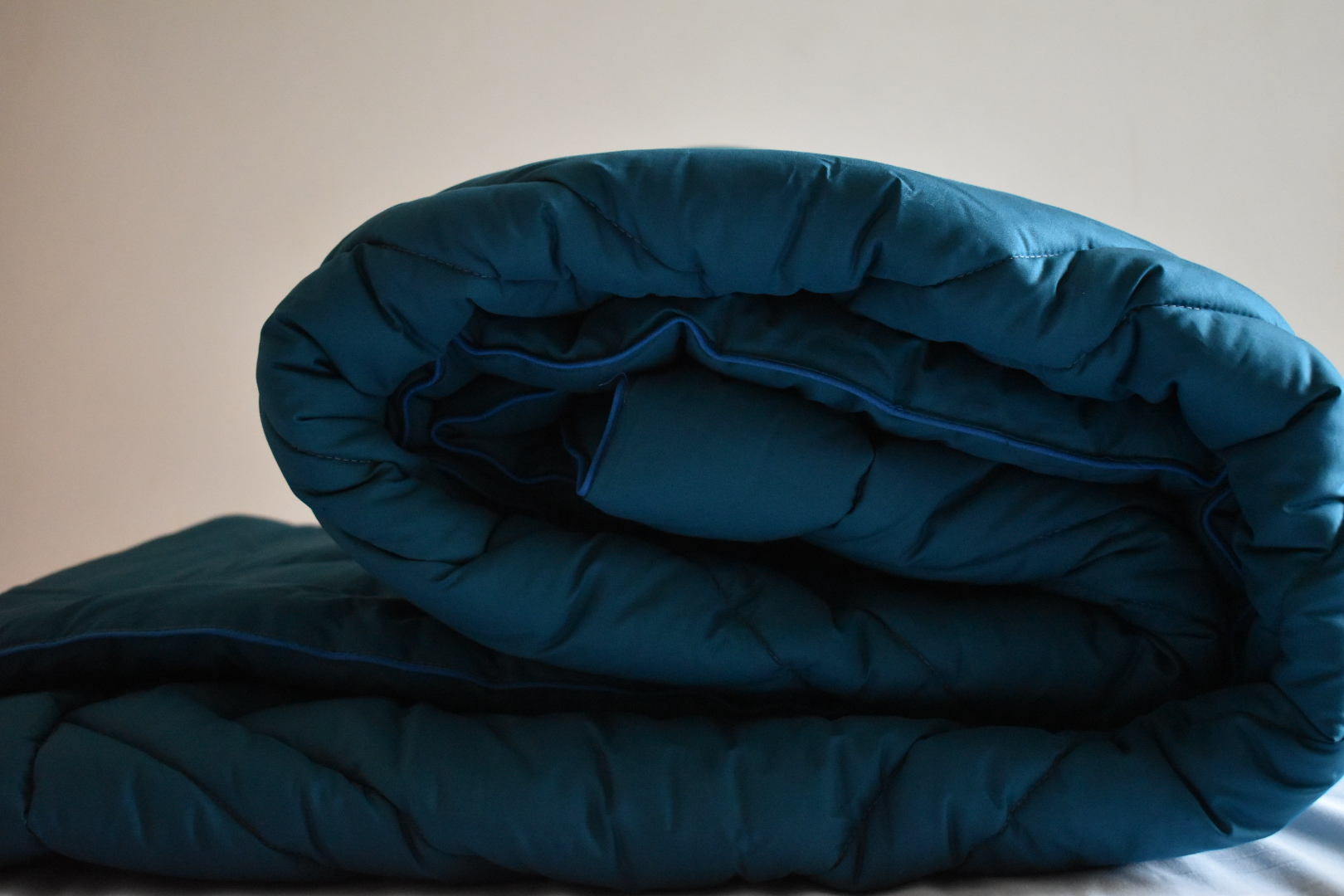 Luxury cool teal coverless duvet