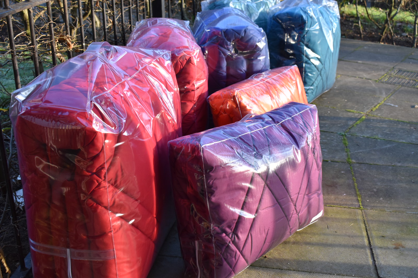 Luxury coverless duvets in mood boosting colours