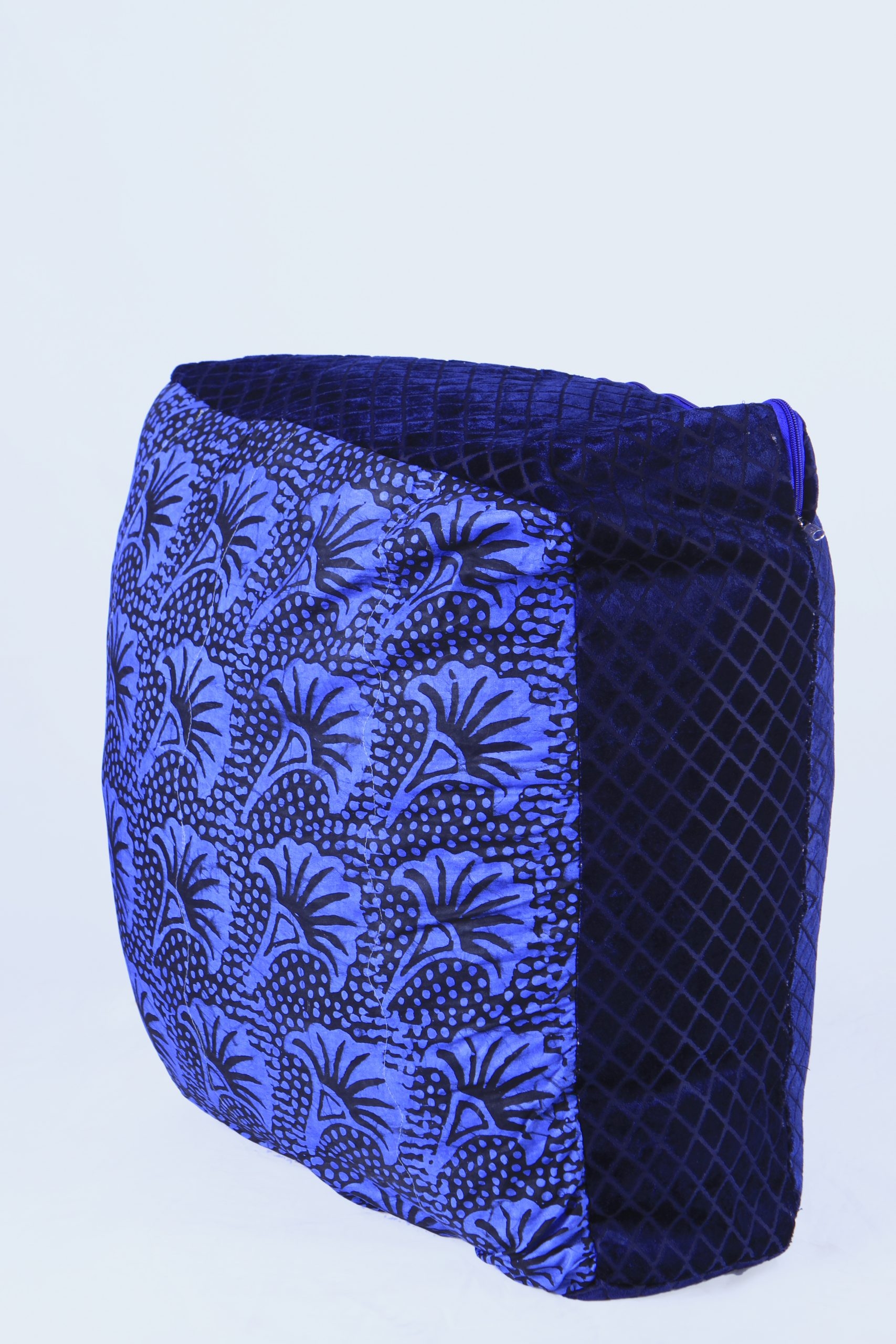 Large adire floor cushion - Royal blue