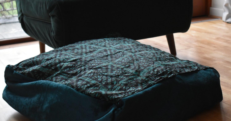 Large adire cushion cover