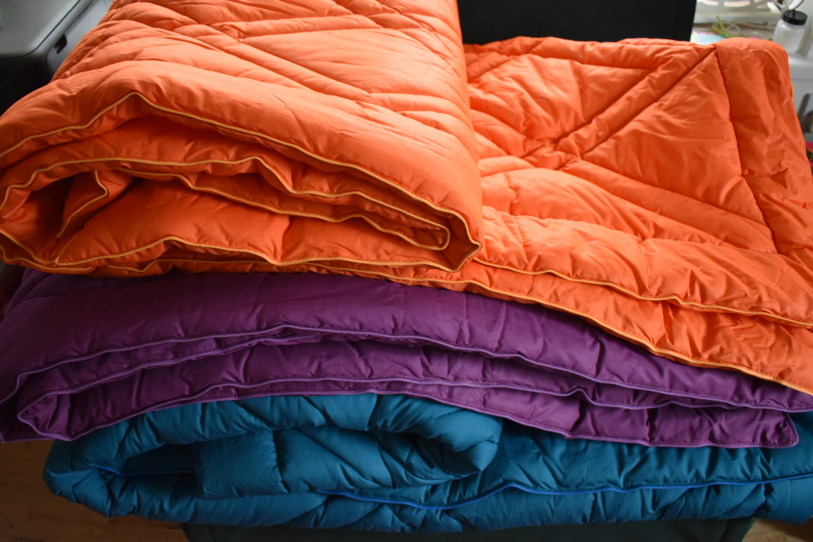 Coverless duvets Orange and Purple and Teal11