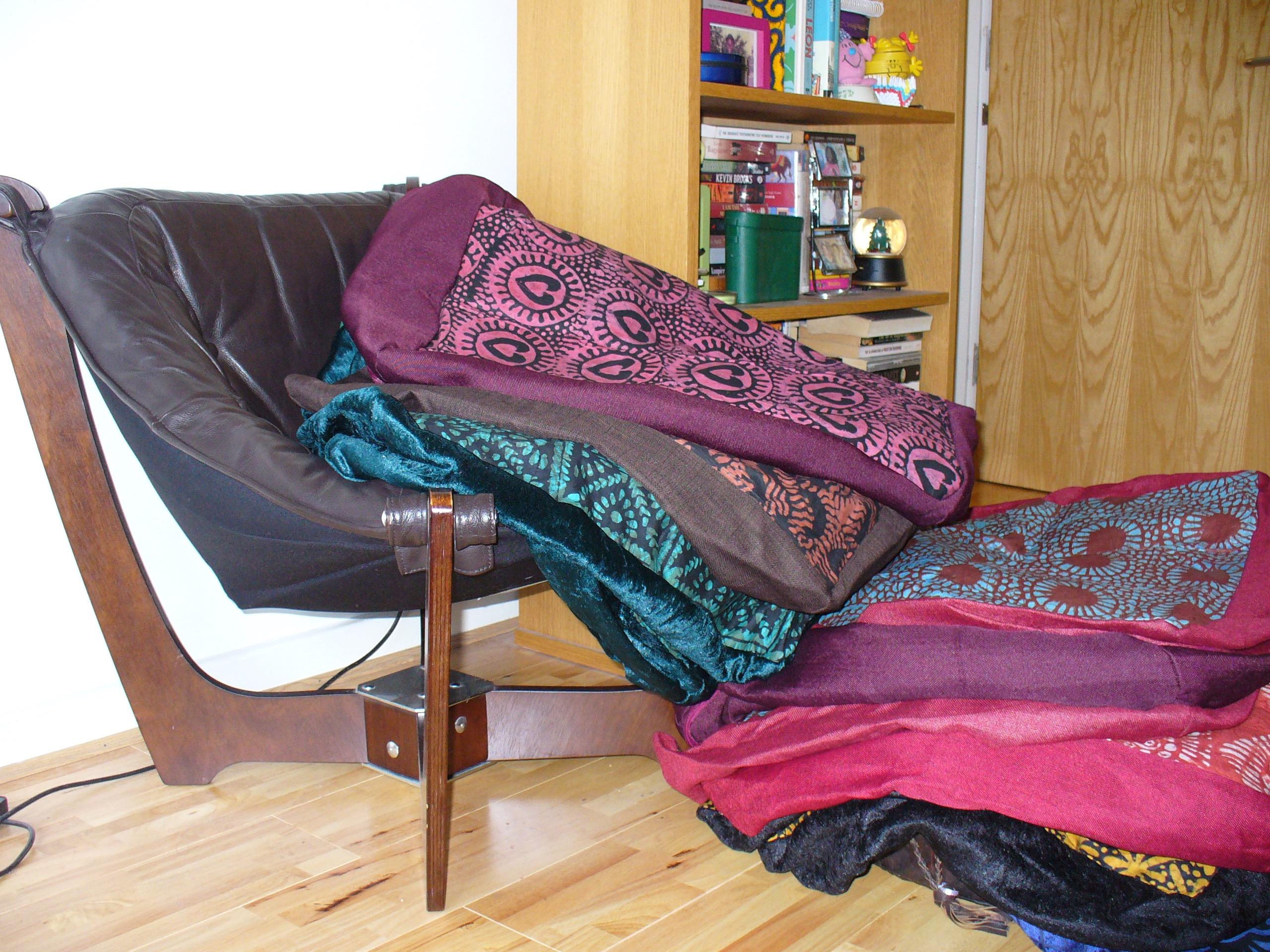 Large adire cushion covers