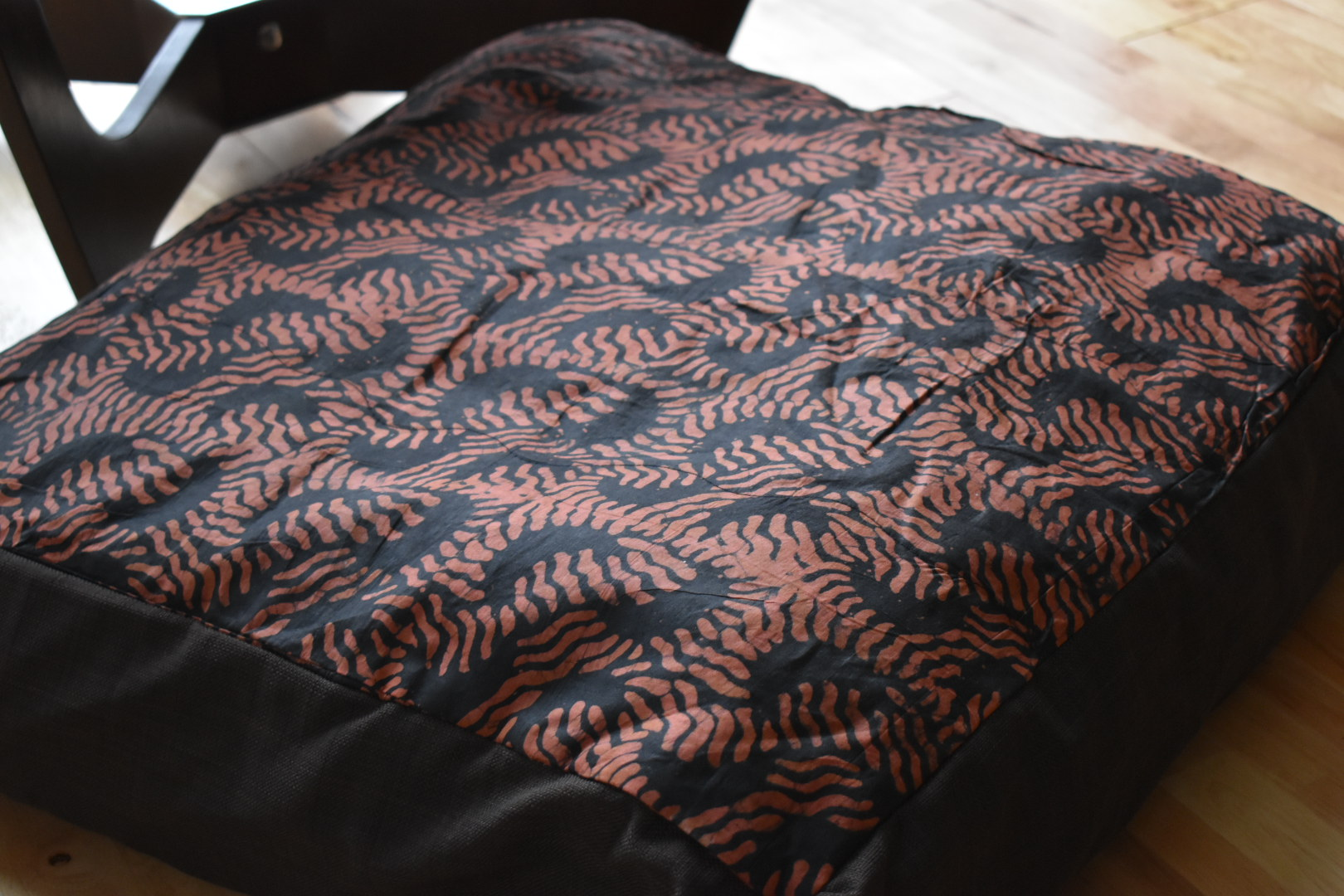 Large adire cushion cover -brown