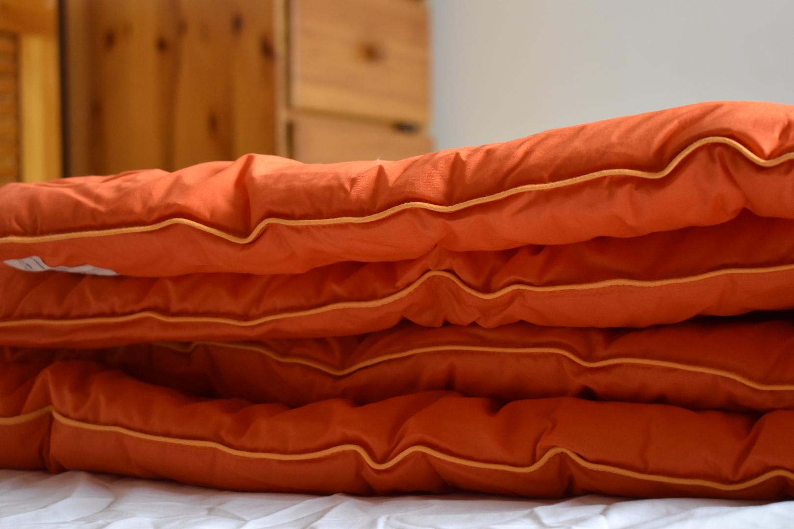 Blooms coverless duvets - orange